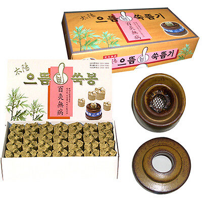 Taeyang Moxa Cautery Device with Mugwort Moxa moxibustion 56pcs