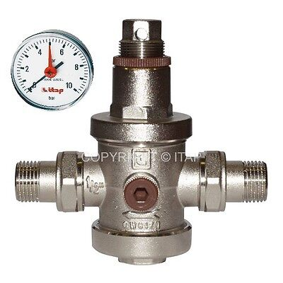 Reducer Pressure Brass for Water with Outlets and Gauge Included 2