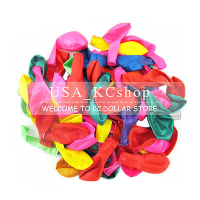 New 100pcs 10 inch Birthday Wedding Party colorful Balloon Latex Thicken Round (Round Balloons)