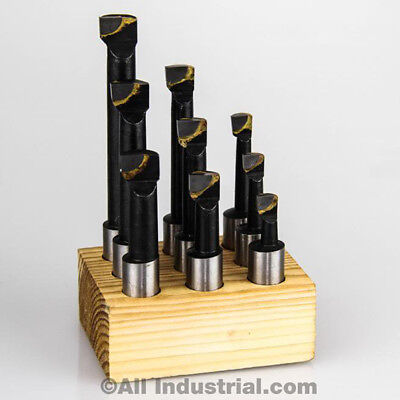 12 Boring Bar Set Pro Quality 9 Pcs Carbide Tipped Bars 12 Shank Lathe Tool