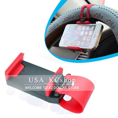 New Car Universal Steering Wheel Clip Mount Stand Cradle Holder for Mobile