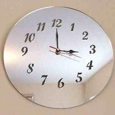 Basketball Clock - Acrylic Mirror (Several Sizes Available)