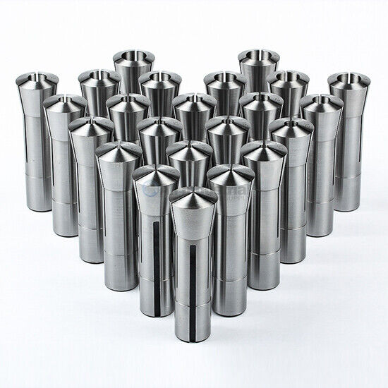 """23 Piece R8 Collet Set Fractional 1/16"""" to 3/4"""" High Precision for Bridgeport"""
