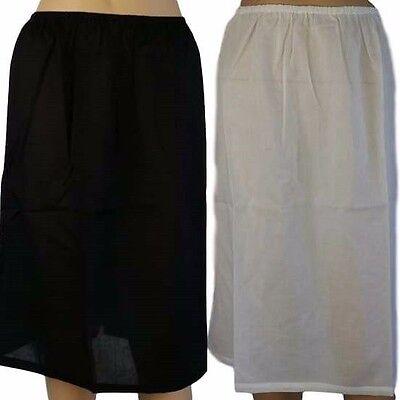 (New HALF SLIP 100% COTTON White Nude Black Skirt AUSTRALIAN Size 12 14 16 18 20)