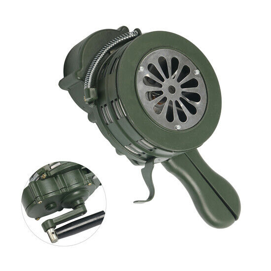 110dB±2 Hand Crank Manual Siren Horn Manual Operated Metal Alarm Air Yaemarine
