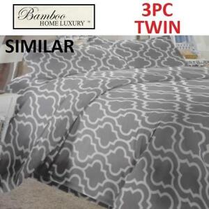 NEW BAMBOO 3PC BED SHEET SET TWIN 1122T 225089954 HOME LUXURY 9500 THREAD COUNTS WRINKLE FREE BEDDING BEDROOM