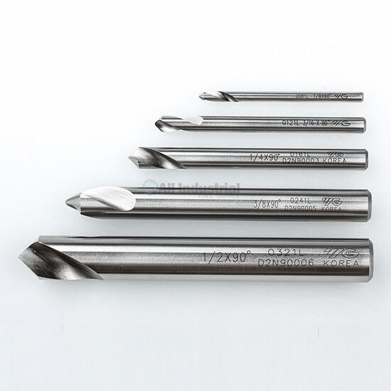 "YG1 NC Spotting Drill 8% Cobalt HSS 1/8 to 1/2"" 90 Degree 5 Pc Set CNC Machine"
