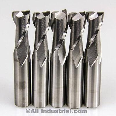 5 Pcs 2 Flute Solid Carbide 14 Diameter End Mill X 34 Loc X 2-12 Cnc Bit