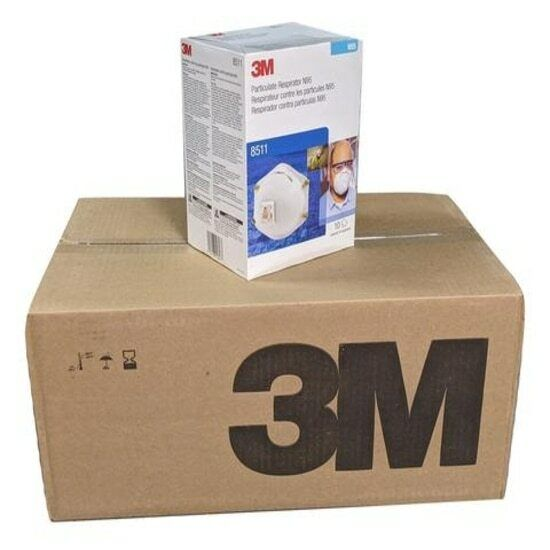 3M 8511 N95 Particulate Respirator W/Exhalation Valve 1 CASE OF 8 BOXES=80 MASKS Business & Industrial