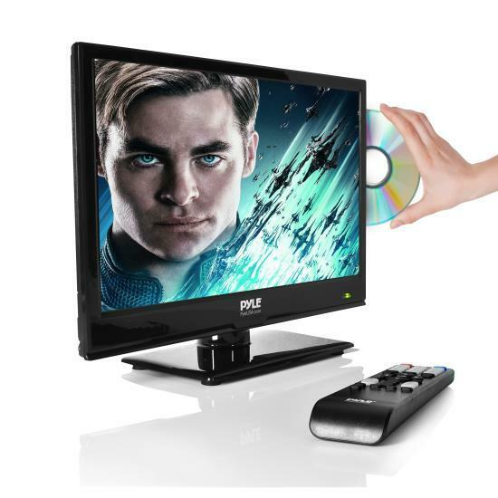 "Pyle PTVDLED16 15.6"" LED TV - HD Flat Screen TV with Built-in DVD Player"