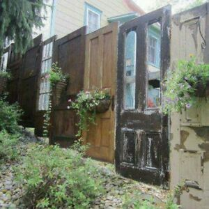14 x VINTAGE DOORS . Antique vintage old doors