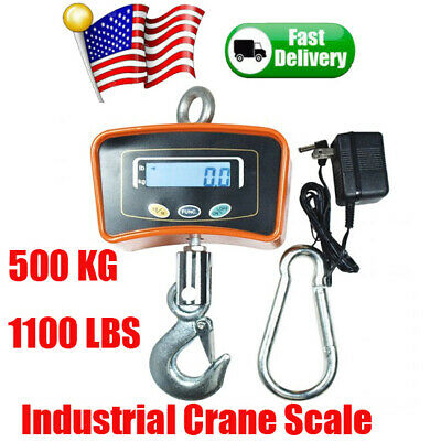 500kg 1100lbs Digital Crane Scale Electronic Industrial Heavy Duty Hanging Scale