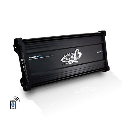Lanzar Heritage Series 3000W 5-Channel Mosfet Amplifier w/Bluetooth Interface