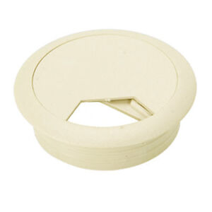 eagle furniture cord cable hole cover off white grommet desk 3 1 8 beige snapin ebay. Black Bedroom Furniture Sets. Home Design Ideas