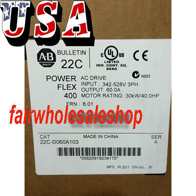 Super Automation Allen-bradley Powerflex 400 30kw 40hp Ac Drive 22c-d060a103--us