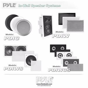 PyleHome (PDIC51RD) In-Wall / In-Ceiling Dual 5.25'' Speaker System, 2-Way, Flush Mount - White or Black