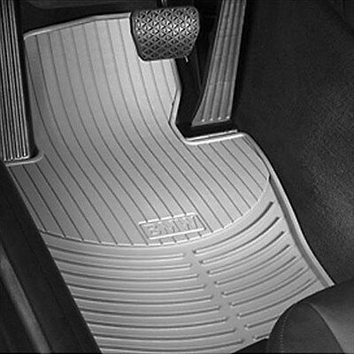 BMW Gray Rubber FRONT Floor Mats 1999-2006 E46 323i 325Ci 328i 330i 82550151489