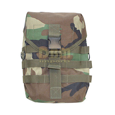 Molle Tactical Drop Leg Gas Mask Pouch Pocket Bag Thigh Utility Carrier Woodland