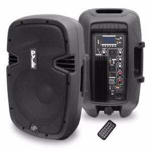 PYLE PPHP1037UB 10'' 700 Watt Powered Two-Way Speaker With MP3/USB/SD/Bluetooth Streaming and Record Function