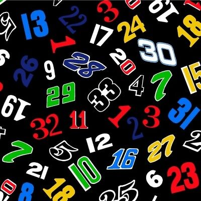 Kids Racing Fabric - Fast Track Race Car Number Toss Black - Henry Glass YARD for sale  Shipping to India
