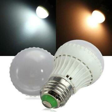 E27 3W Warm White/White SMD 5730 LED Light Bulb AC 85-265V