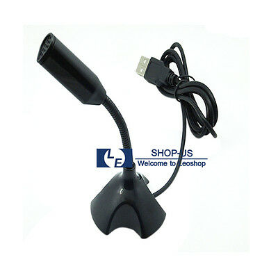 New USB Mini Desktop Speech Microphone Mic Stand for PC Laptop Computer Notebook