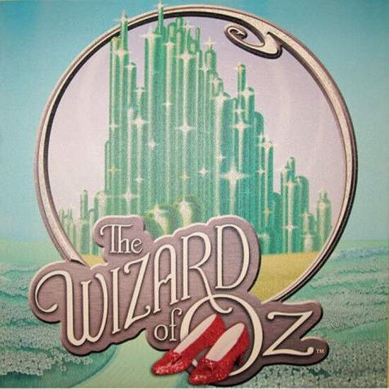 The Wizard of Oz Emerald City 15 x 15 Glitter Stretched Canvas Wall Art, BOXED