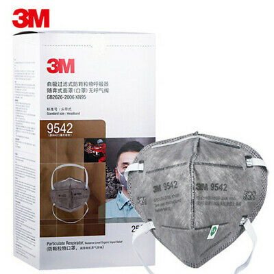 525pcs 3m 9542 Kn95 Particulate Respirator Disposable Face Mask Mouth Cover