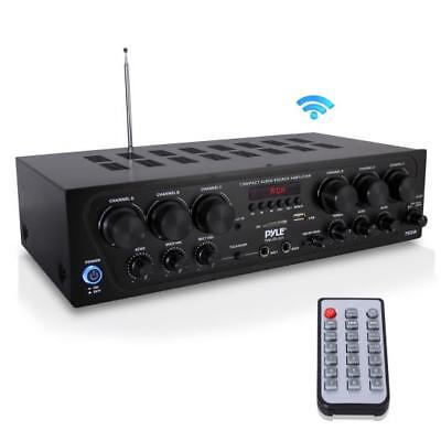 Pyle PTA62BT Bluetooth Home Audio Amplifier, 6-Ch. Audio Source Stereo System