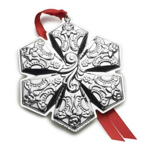 Wallace 2018 Grande Baroque Snowflake Ornament, Sterling, 21st Ed., Brand NEW