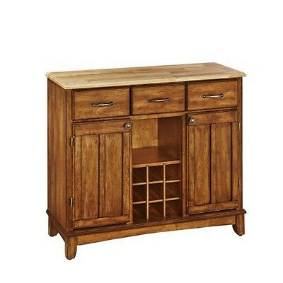 Home Styles Large Cottage Oak Base and Natural Wood Top Buffet - Homestyles Large Natural