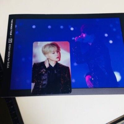 BTS Bangtan Boys The Wings Tour Essay Book for SUGA with Photo card