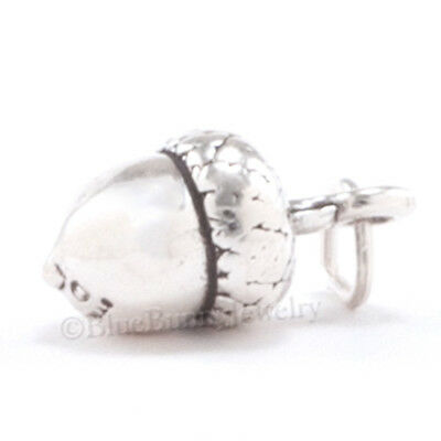 ACORN Tree Nut Fall Autumn jewelry Pendant Charm Solid 3D 925 Sterling Silver