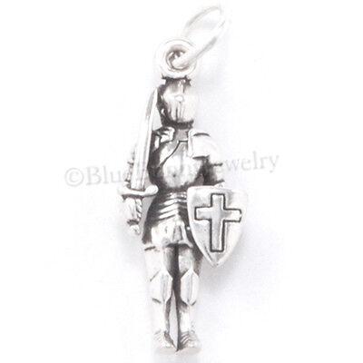 KNIGHT Charm ARMOR Pendant Medieval Renaissance Sterling Silver .925 925 3D