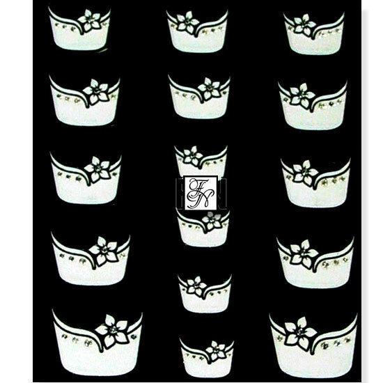 French-Sticker Nr.3 weiße Blume Nagelsticker Nailsticker Nailart Nagel-Aufkleber