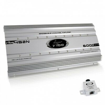 Lanzar VIBE452N Car Audio Vibe 6000 Watt 4 Channel Mosfet Amplifier Tri-Mode