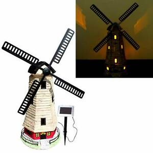 Large 90cm Garden Windmill Light House Solar Light 2 LEDs C5118W Athelstone Campbelltown Area Preview