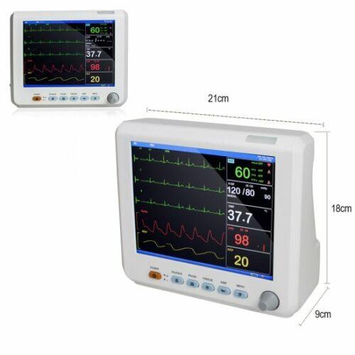 NEW HOSPITAL VITAL SIGNS MONITOR 6-PARAMETER ICU CARDIAC MONITORING  MACHINE 5PC KIT