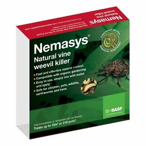 Nemasys Nematodes Vine Weevil Killer (Treats 12 sq.m) Non Harmful Pet Friendly