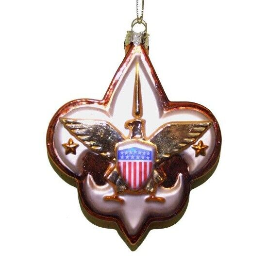 Boy Scouts of America Logo Glass Christmas Ornament BSA Decoration New