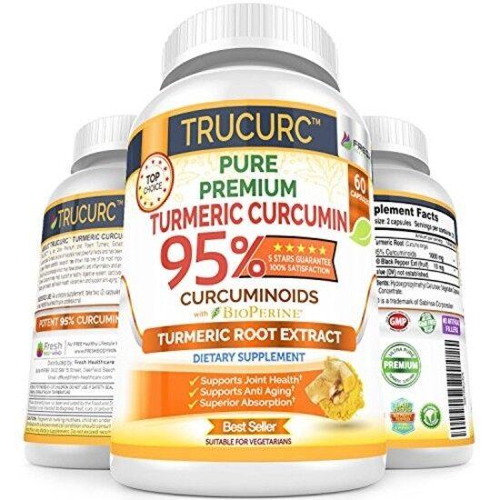 Turmeric Curcumin Maximum Potency Supplement Pure 95% Organi