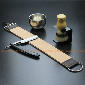 Gold-Dollar-66-Straight-Razor-Brush-Brush-Stand-Bowl-Leather-Strop-Strap