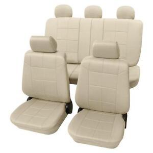 Beige Sitzbezüge Schonbezüge Sitzbezug Lederoptik Volvo V70 Mk II 2000-2007