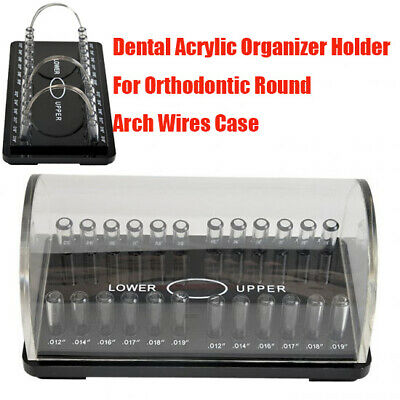 Dental Orthodontic Upper Lower Round Arch Wire Organizer Holder Case Box Acrylic