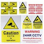 CCTV Camera Security Camera Warning Sticker Sign Decal CC...