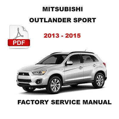 MITSUBISHI OUTLANDER SPORT 2013 2014 2015 FACTORY SERVICE REPAIR SHOP FSM MANUAL