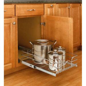 Kitchen cabinet organization metal drawer CROM