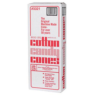 Cotton Candy Cones Plain 3321 Gold Medal 1200 Pcscs