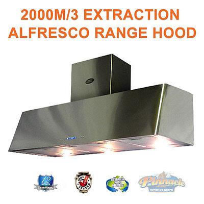 1500 COMMERCIAL CANOPY RANGE HOOD ALFRESCO INDOOR RANGEHOOD 2400M/3 EXTRACTION