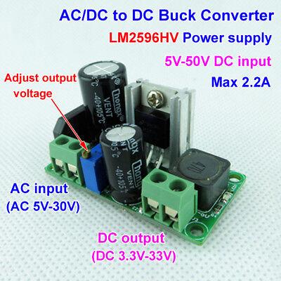 Mini Acdc To Dc Buck Step Down Adjustable Volt Converter 3.3v 5v 6v 9v 12v 24v